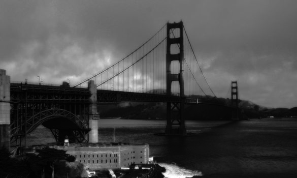 Golden Gate Bridge BW