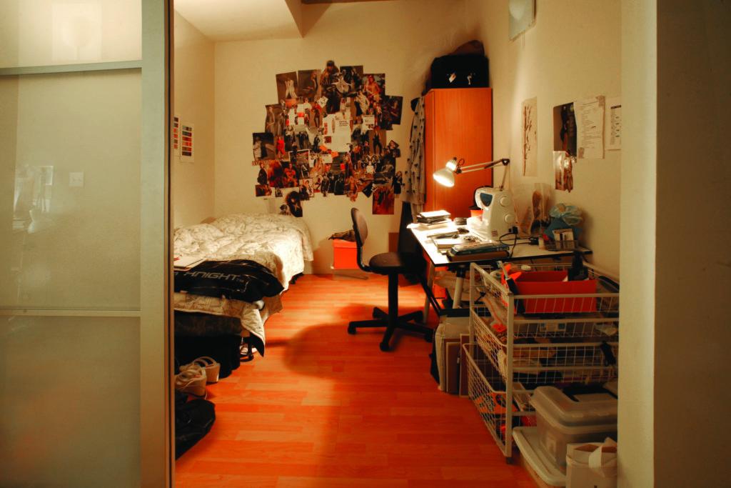 campus dorm room