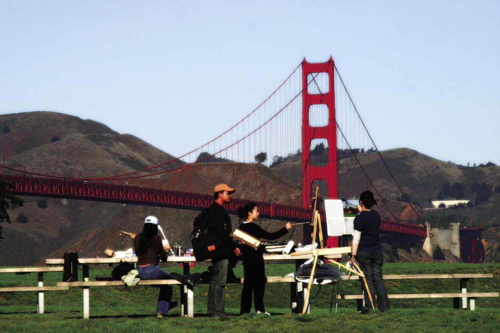 Academy of Art students enjoying San Francisco