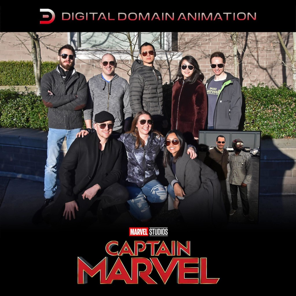 An image of the animation and visual effects team of Captain Marvel
