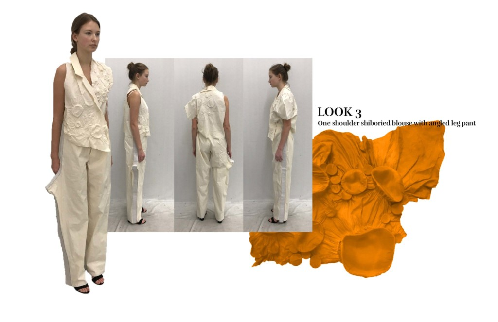 One-shouldered blouse concept by Anna Yepes Tucker