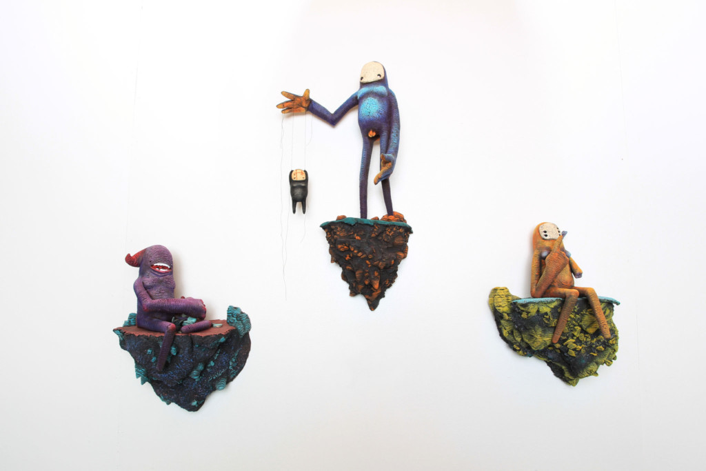 Bright, whimsically colored figurines