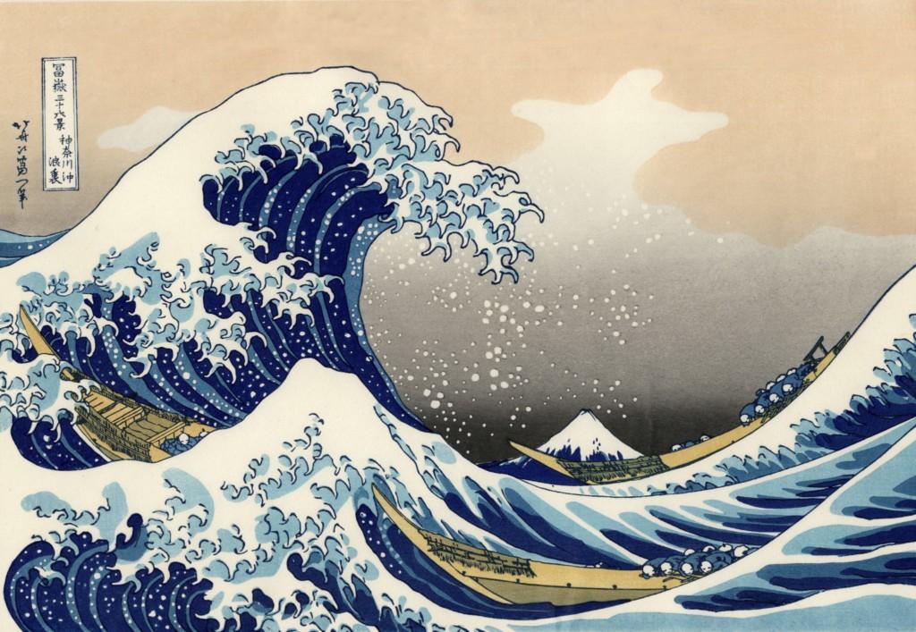 The Great Wave off Kanagawa by Katsuchika Hotsukai