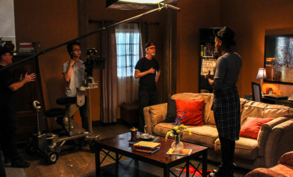 acting students on set