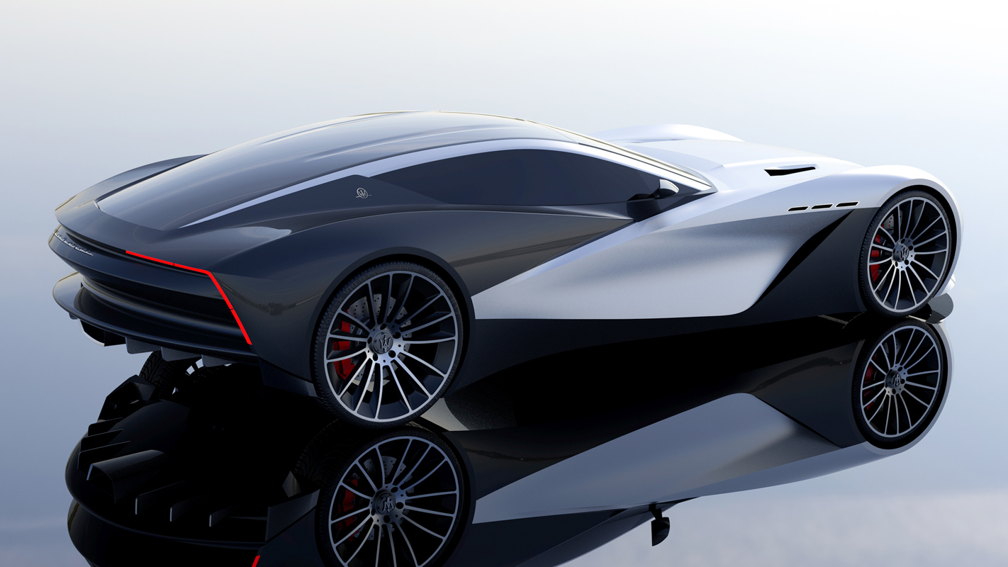 Car design by School of Industrial Design students Andrew Kang and Lewis Liu