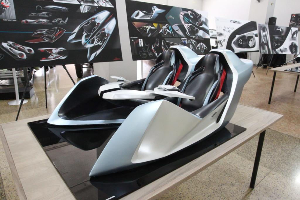 Half-scale model of car seats for Jaguar