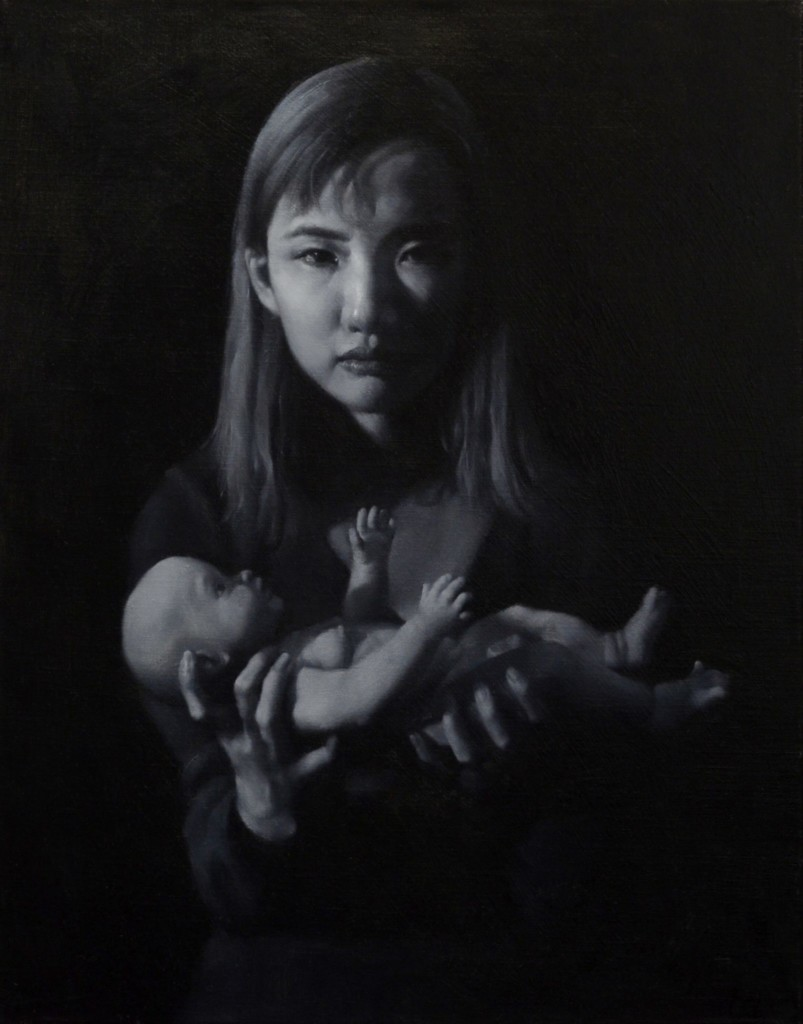 Mother and child painting by Tao Sang