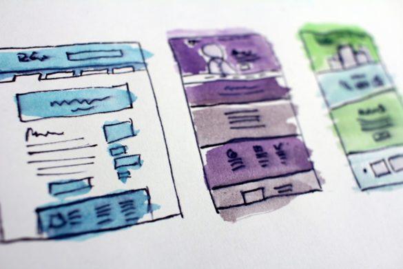 web design ui concept