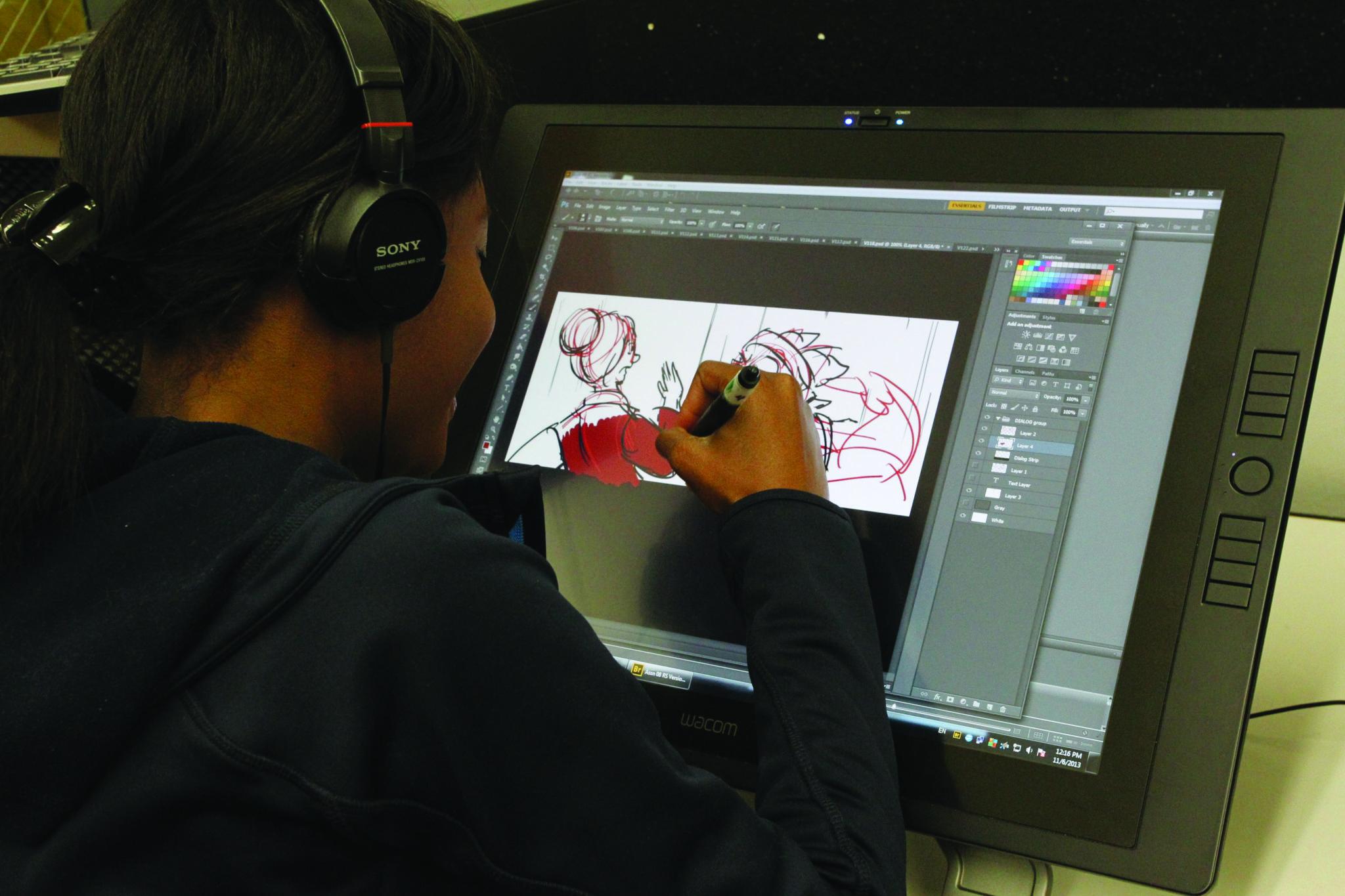 Illustration school student