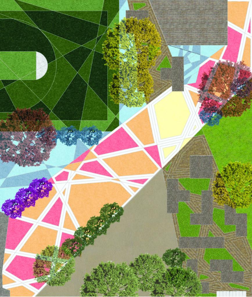 Landscape Architecture model aerial view