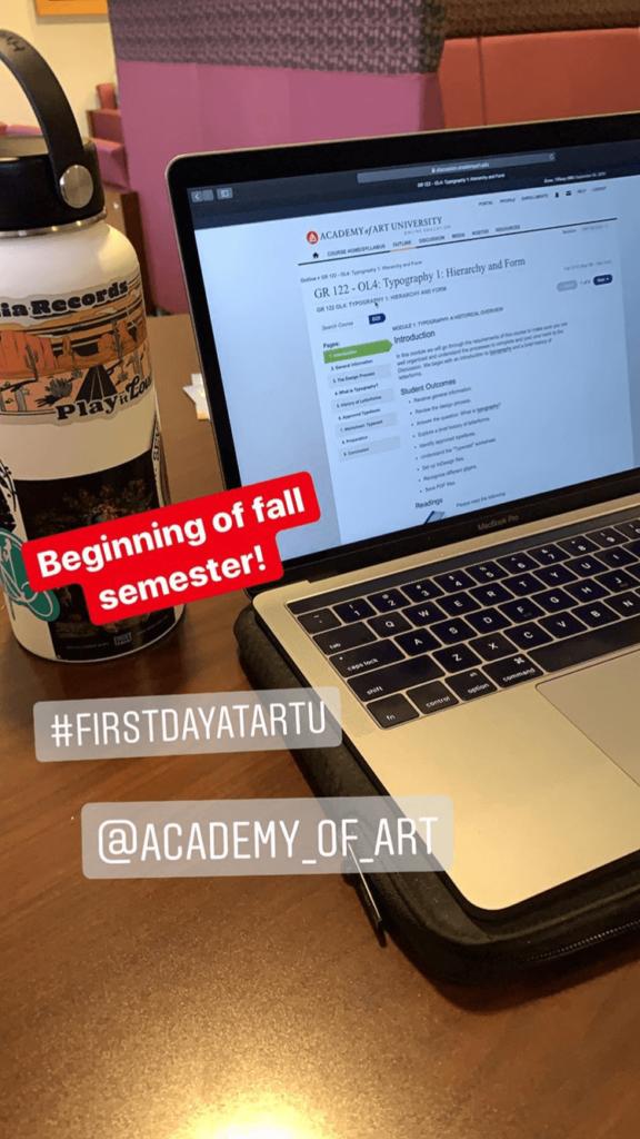 Academy of Art First Day High Fall Semester