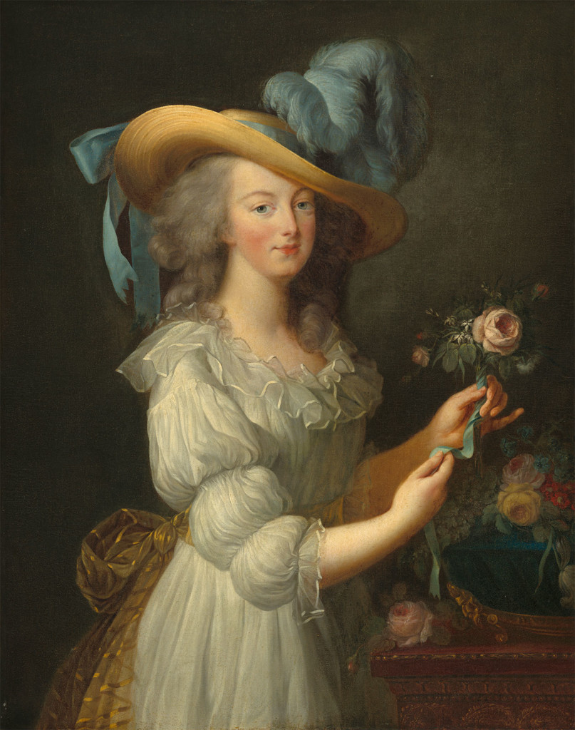 Marie Antoinette in a Chemise Dress (1783) by Elisabeth Vigee le Brun