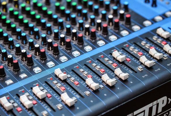 Image of Audio Mixer Board