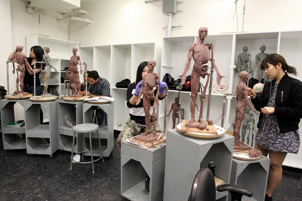 School of FIne Art - Sculpture Class