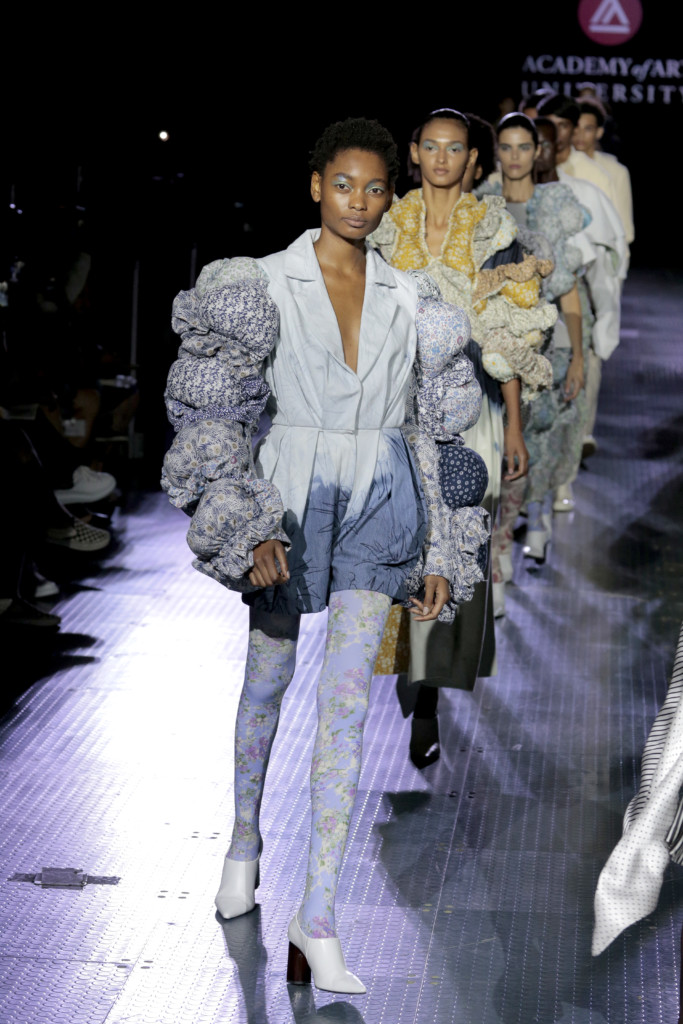 New York Fashion Week Spring 2020 Collection by Academy Fashion student Abby Yang (Photo by Randy Brooke/Getty Images for Academy of Art University)