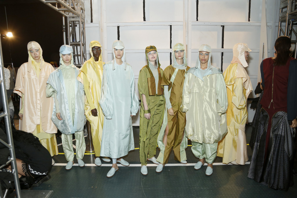 Collection by Academy Fashion student Yi Pan (Photo by Lars Niki/Getty Images for Academy of Art University)