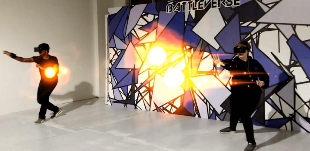 An example of a recent game development: an AR arcade called Battleverse