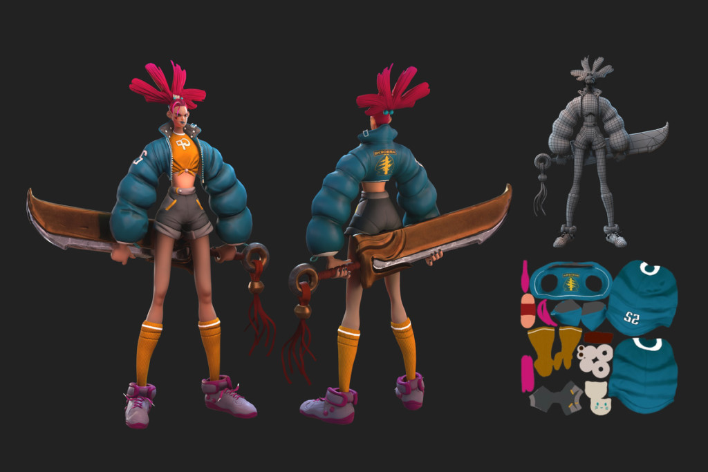 Character Model by Game Development BFA student Taibin Zhang