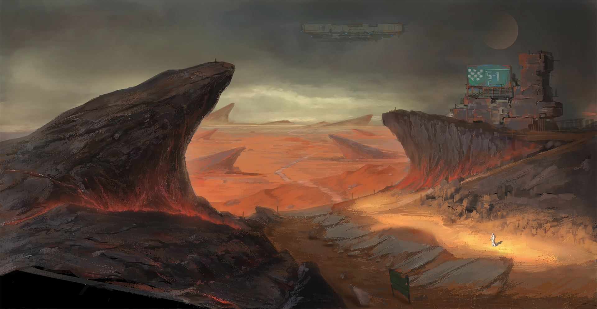 Black Mountain Desert Concept Art by Game Development student Weiyi Qin
