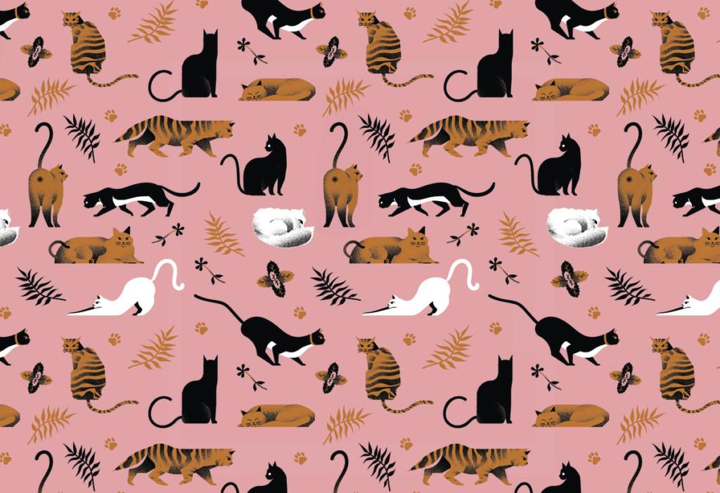 """""""Cat-nip Pattern"""" by School of Illustration MFA student Joan Alturo"""