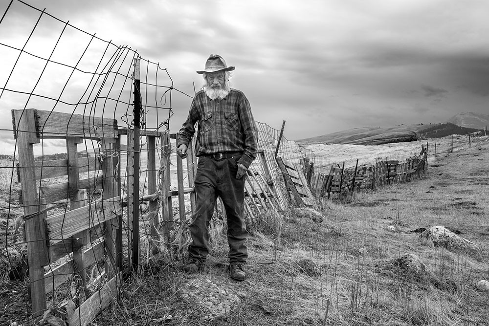 """John at His Fence Line"" by School of Photography MFA student Cynthia Matty Huber"