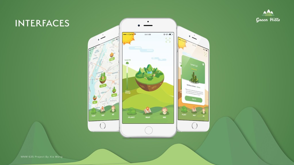 """Green Hills"" by School of Web Design & New Media MA student Xia Summer Wang"