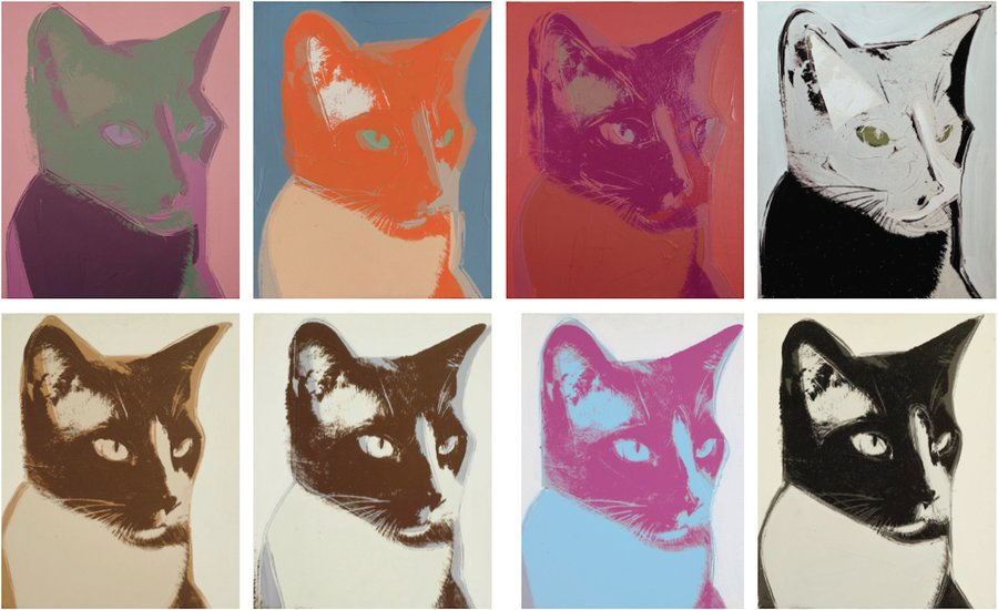 pets in art-warhol cats and dogs 1976-artspace
